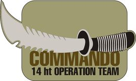 Commando knife. Equipment, which is one of commandos commando knife royalty free illustration