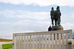 Commando Memorial, Scotland. The Royal Marines Association Royalty Free Stock Photos