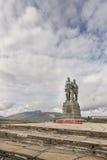 Commando Memorial at Spean Bridge in Scotland. Stock Photo