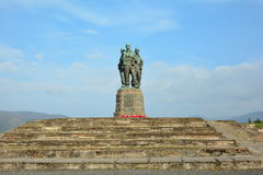 Commando Monument with flowers Royalty Free Stock Photos