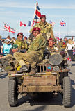 Commando parade Stock Images