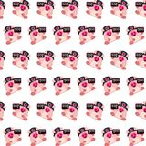 Commando piggy - sticker pattern 01. Pattern of a sticker commando piggy that can be used as a background, texture, prints or something else royalty free illustration