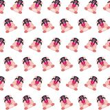 Commando piggy - sticker pattern 02. Pattern of a sticker commando piggy that can be used as a background, texture, prints or something else royalty free illustration