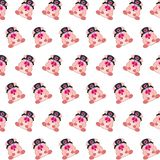 Commando piggy - sticker pattern 05. Pattern of a sticker commando piggy that can be used as a background, texture, prints or something else royalty free illustration