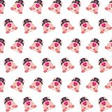 Commando piggy - sticker pattern 07. Pattern of a sticker commando piggy that can be used as a background, texture, prints or something else stock illustration