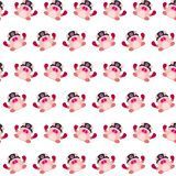 Commando piggy - sticker pattern 08. Pattern of a sticker commando piggy that can be used as a background, texture, prints or something else royalty free illustration