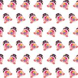 Commando piggy - sticker pattern 09. Pattern of a sticker commando piggy that can be used as a background, texture, prints or something else royalty free illustration