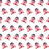 Commando piggy - sticker pattern 13. Pattern of a sticker commando piggy that can be used as a background, texture, prints or something else royalty free illustration