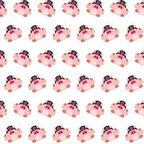 Commando piggy - sticker pattern 20. Pattern of a sticker commando piggy that can be used as a background, texture, prints or something else stock illustration