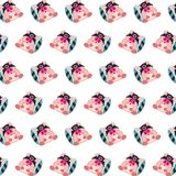 Commando piggy - sticker pattern 24. Pattern of a sticker commando piggy that can be used as a background, texture, prints or something else royalty free illustration