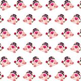 Commando piggy - sticker pattern 25. Pattern of a sticker commando piggy that can be used as a background, texture, prints or something else stock illustration