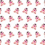 Commando piggy - sticker pattern 27. Pattern of a sticker commando piggy that can be used as a background, texture, prints or something else royalty free illustration