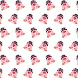 Commando piggy - sticker pattern 28. Pattern of a sticker commando piggy that can be used as a background, texture, prints or something else stock illustration