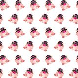 Commando piggy - sticker pattern 30. Pattern of a sticker commando piggy that can be used as a background, texture, prints or something else royalty free illustration