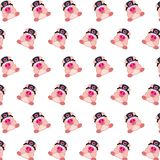 Commando piggy - sticker pattern 33. Pattern of a sticker commando piggy that can be used as a background, texture, prints or something else vector illustration