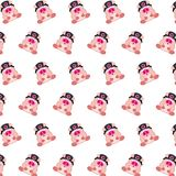 Commando piggy - sticker pattern 35. Pattern of a sticker commando piggy that can be used as a background, texture, prints or something else royalty free illustration