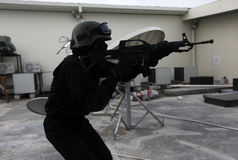 Commando raid drills Royalty Free Stock Images