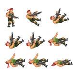 Commando. Vector Illustration of Commando Soldier Game Sprite royalty free illustration