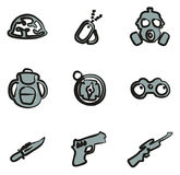 Commandos Icons Freehand 2 Color Stock Images