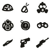 Commandos Icons Freehand Fill Stock Photography