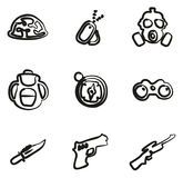 Commandos Icons Freehand Stock Image