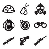 Commandos Icons Royalty Free Stock Images