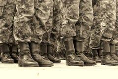 Commandos in a row Royalty Free Stock Photos