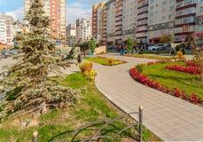 Commandos square. Tyumen. Russia Royalty Free Stock Photo
