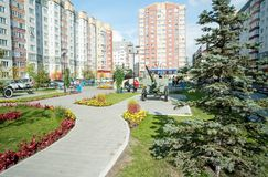 Commandos square. Tyumen. Russia Stock Images