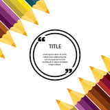 Commas, note, message and comment. Design element similar to quo Royalty Free Stock Images