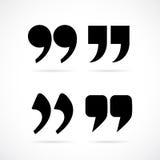 Commas speech marks. Set vector illustration royalty free illustration
