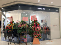 Comme Ca Fille shoppar i Hong Kong Royaltyfri Fotografi