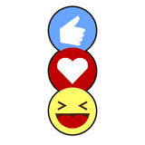 Comme, coeur, rire Emojis Image libre de droits