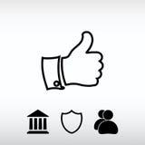 COMME l'icône, illustration de vecteur Style plat de conception Image stock