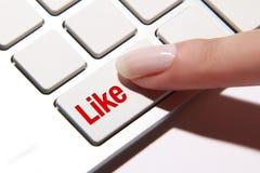 Comme le bouton Image libre de droits