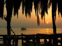 Comme le lever de soleil caribian photo stock