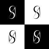 Comme monogramme Illustration de Vecteur