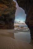 Comme plage de Catedrais, falaises Photo libre de droits