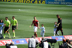 COMME ROMA CONTRE PESCARA (1 : 1) PARTIE DE FOOTBALL Images stock