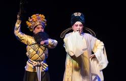 """comme un canard dans une épingle à cheveux de pourpre d'orage-Le--rêves d'opera""""four de Jiangxi de  de linchuan†Image libre de droits"""