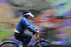 Comme une peinture à la bicyclette de ridea Photo stock