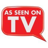 Comme vu sur le graphisme de TV Photo libre de droits