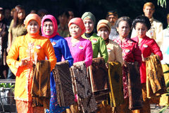 Commemorating the batik day Stock Images