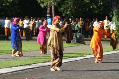 Commemorating the batik day Stock Image
