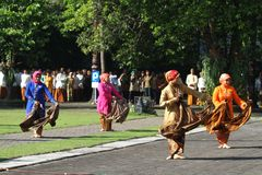 Commemorating the batik day Stock Photo