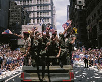 Commemorating the Desert Storm Victory Parade Stock Image