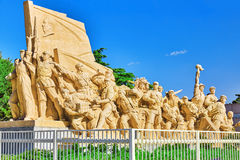 Commemorating statues of workers in struggle in the revolution o Stock Image