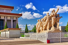 Commemorating statues of workers in struggle in the revolution o Royalty Free Stock Photography