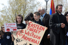 Commemoration of Armenian Genocide Stock Image