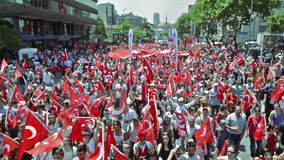 Commemoration of Ataturk, Youth and Sports Day march in Bagdat Street on May 19, 2013 in Istanbul, Turkey. stock footage